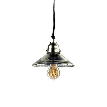 Mercury Glass Antiqued Classic Pendant Lamp