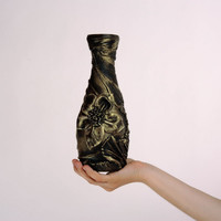 Vase handmade goblet chalice leather decoration decorative unusual present gift