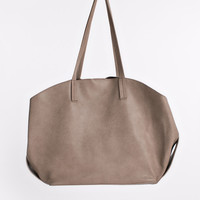 Leah Taupe Slouchy Tote