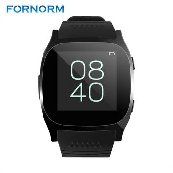 Fornorm T8 Sport Bluetooth Smart Watch Support SIM TFcard 2.0MP Camery Wearable Devices With Camera Call For Android