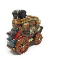 1969 Ezra Brooks Overland Express Stagecoach Decanter, Vintage Decanter, Heritage China 1969 Ezra Brooks F2-5