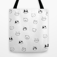 Cats Pattern Tote Bag by Karin Lauria