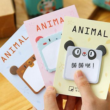 Creative Square Elephant Mouse Self-Adhesive N Times Memo Pad Sticky Notes Post It Bookmark School Office Supply