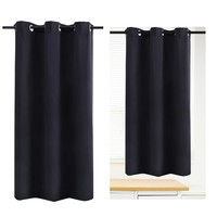 WINOMO Blackout Curtain Room Darkening Thermal Insulated Grommet Drape for Living Room Bedroom 42 x 67 Inch