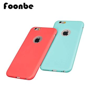 High Quality I6 6s Candy Color Soft TPU Silicon Phone Cases for iphone 6 6s 4.7' 6 6s plus 5.5'' Case Cover Logo Window
