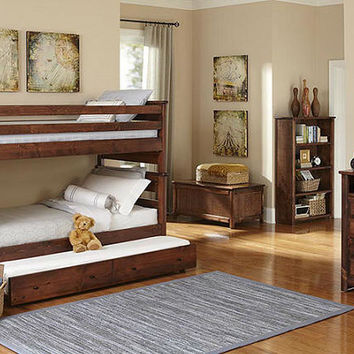 Otter Creek Twin over Twin Stairway Bunk Beds