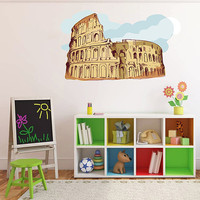kcik194 Full Color Wall decal Coliseum Rome Italy children's bedroom
