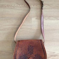 Tooled leather bag from kiwicat