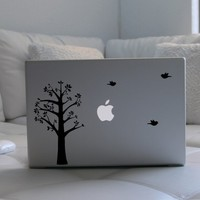 Tree and Birds Laptop / Notebook Computer Decal by lewasdesigns