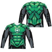 Green Lantern Sublimated Mens Long Sleeve Costume T-Shirt