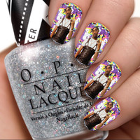 Tupac x Lisa Frank Nail Wraps / Nail Decals / Nail Art