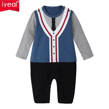Baby Boy Romper Cotton Bow Tie Gentleman Party Clothing Spring Toddler Prince Costume Infant Jumpsuits Kid Newborn Clothes