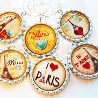 Paris wine charms by KellysMagnets