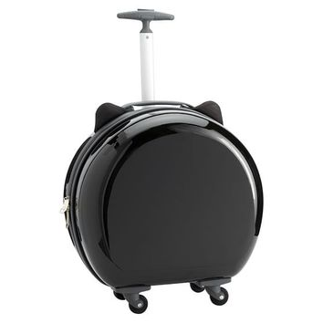 Hard-Sided Round Cat Carry On, Black