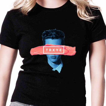 Trxye Troye Sivan TV Womens T Shirts Black And White