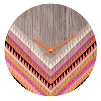 Iveta Abolina Boardwalk Round Clock