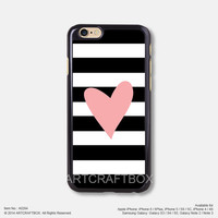 Pink Heart Black Strip Free Shipping iPhone 6 6Plus case iPhone 5s case iPhone 5C case iPhone 4 4S case Samsung galaxy Note 2 Note 3 Note 4 S3 S4 S5 case 284