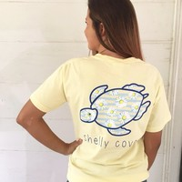 Happy Daisies Short Sleeve Tee in Banana