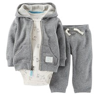 Carter's Dog Hooded Cardigan Set - Baby Boy