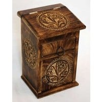 Tree of Life Herbal Cupboard Chest Wooden Box Wicca  NEW