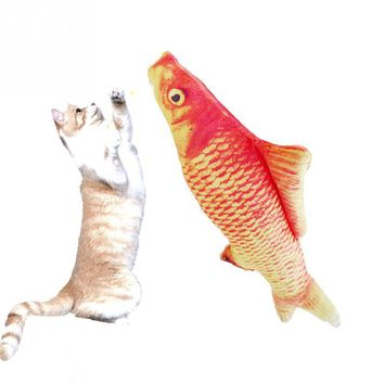 Cat Toys Simulation Plush Fish Pets Pillow Catnip Toys Chew Bite Cat Toy