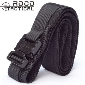 Mens Army Military Gun Belt Molle Operator Gun Pistol Belt Tactical Belt Airsoft Rigger Strap EDC Army Belts Made of 1000D Nylon