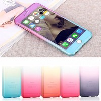Complete Coverage of 360 Degrees Back Cover Case For iPhone 5 5S SE 6 6S 4.7 / 6 6S Plus 5.5 + Free Screen Glass