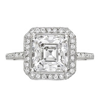 Fred Leighton Asscher-Cut Diamond Ring