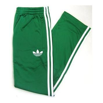 ADIDAS ORIGINALS FIREBIRD TRACK PANTS (BOTTOMS) GREEN/WHITE