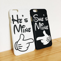 He's Mine - She's Mine - Couple Cases - Valentine Gift - Full printed case for iPhone - by HeartOnMyFingers - CPL-008