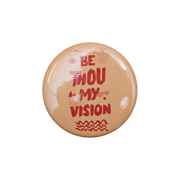 Be Thou My Vision Peach Button