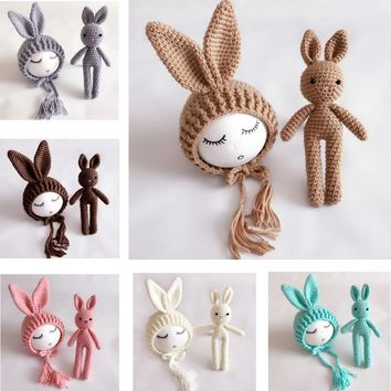 Crochet Rabbit Toy + Bunny Ear Hat