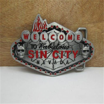 Film Sin city skull buckles mens designer belt buckles metal for Clothing, jeans, women dress, skirt, girls clothes, Kid clothes