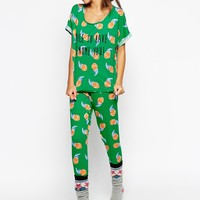 ASOS Nice to Gnome You Tee & Legging Pajama Set