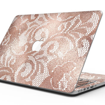 Rose Gold Lace Pattern 14 - MacBook Pro with Retina Display Full-Coverage Skin Kit