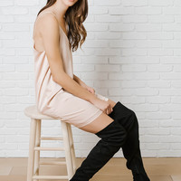 Bianca Suede Over-The-Knee Boots-FINAL SALE