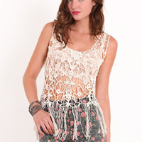 Breaking it Up Crochet Tank - $28.50 : ThreadSence.com, Your Spot For Indie Clothing  Indie Urban Culture