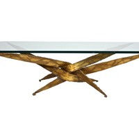 S. Seandel Gilt Torch-Cut Coffee Table