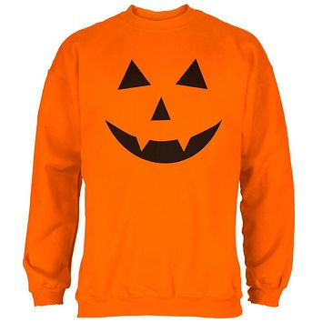 Halloween Jack-O-Lantern Costume Fangs Face Mens Sweatshirt