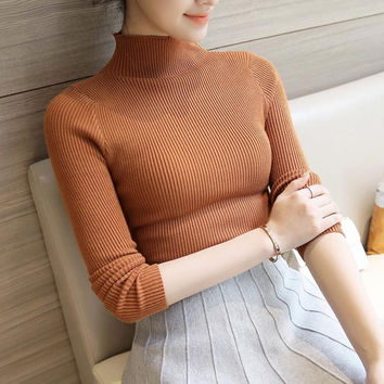 2017 Spring Autumn Cashmere Sweater Women Fashion Sexy Big O-neck Women Sweaters And Pullover Warm Long Sleeve Knitted Sweater
