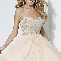 Short Strapless Babydoll Dress by Hannah S