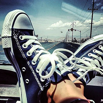 """Converse"" Fashion Canvas Flats Sneakers Sport Shoes Low tops Dark Blue"