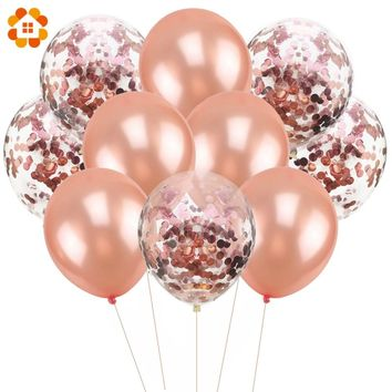 10PCS/Lot 12inch Confetti Air Balloons Happy Birthday Party Balloons Helium Balloon Decorations Wedding Ballons Party Supplies