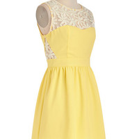 ModCloth Pastel Short Sleeveless A-line Lemonade for Each Other Dress