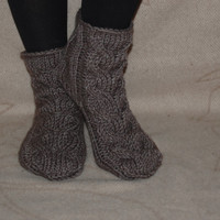 Hand knit socks, wool socks, Handmade Knitted Wool Socks, knitted slippers, Wool socks for women, christmas present