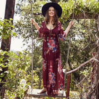 Bouquet Floral Maxi Dress by Band of Gypsies