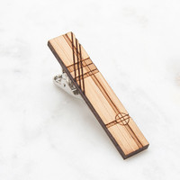 Travis Wood Tie Clip