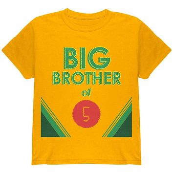 Crayon Big Brother of 5 Youth T Shirt