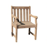 V1623 Outdoor Hand-scraped Hardwood Garden Arm Chair