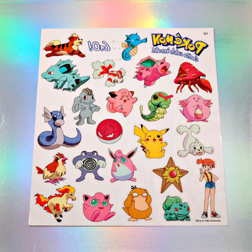 VINTAGE Pokemon Tattoo's - Misty Pack